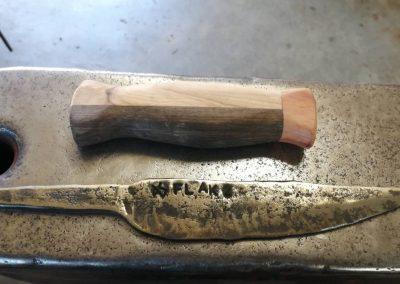 Messerklinge nach dem Anlassen.
