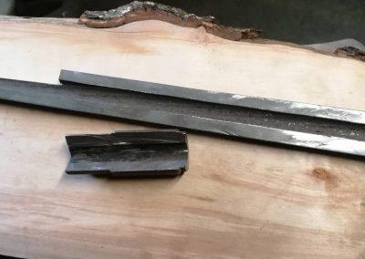 Messer aus Mg Lauf