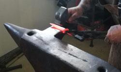 restaurierung einer messerklinge