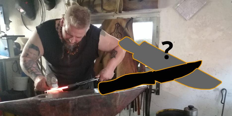 custom knife forged custom-made