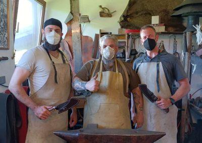 Messer von Kursteilnehmern